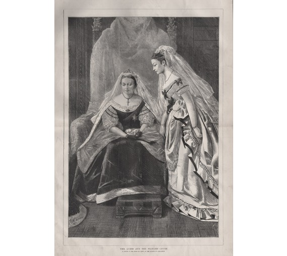 queen victoria princess louise 1871 parliament engraving