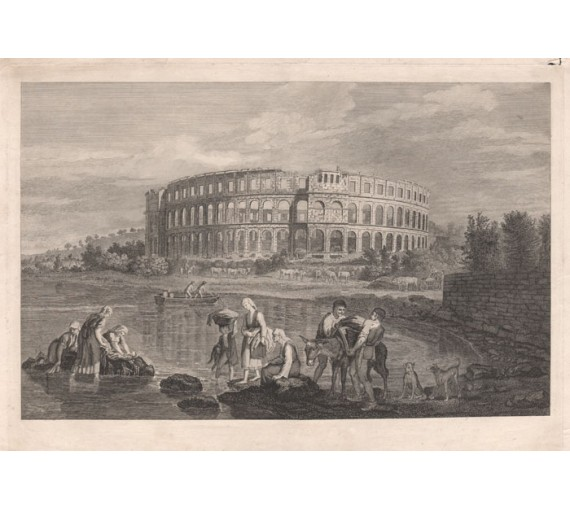 Amphitheatre Pola James Stuart engraving Antiquities Athens