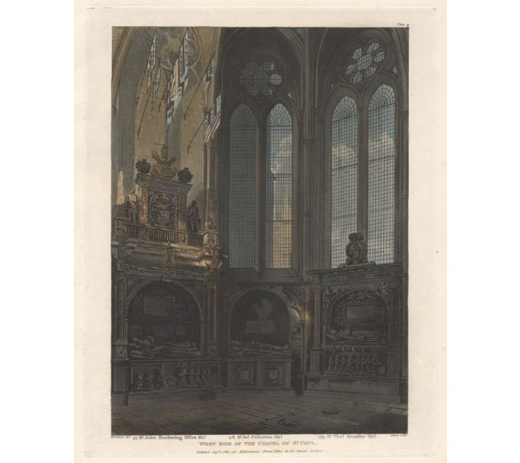 West Side Chapel St Paul Westminster Abbey engraving