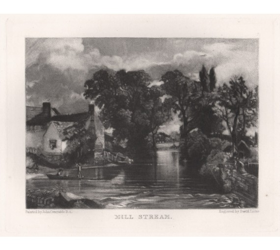 mill stream Suffolk mezzotint Lucas Constable