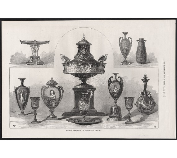 worcester porcelain international exhibition engraving 1871