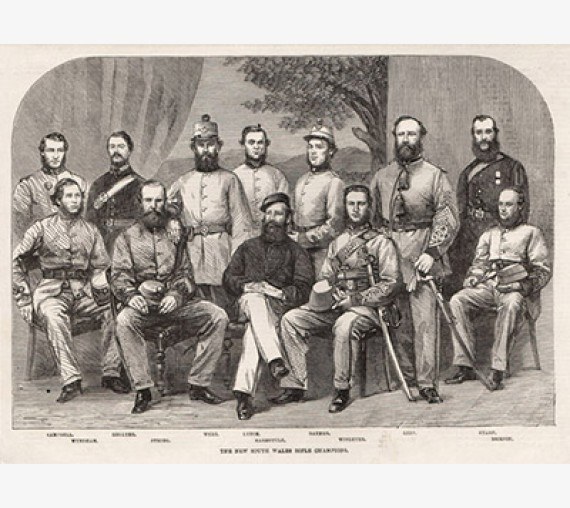 New South Wales Rifle Champions engraving 1863