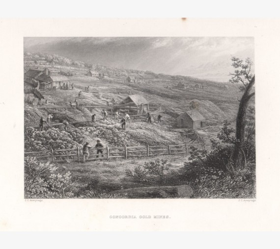 Concordia Gold Mines engraving Armytage 1874