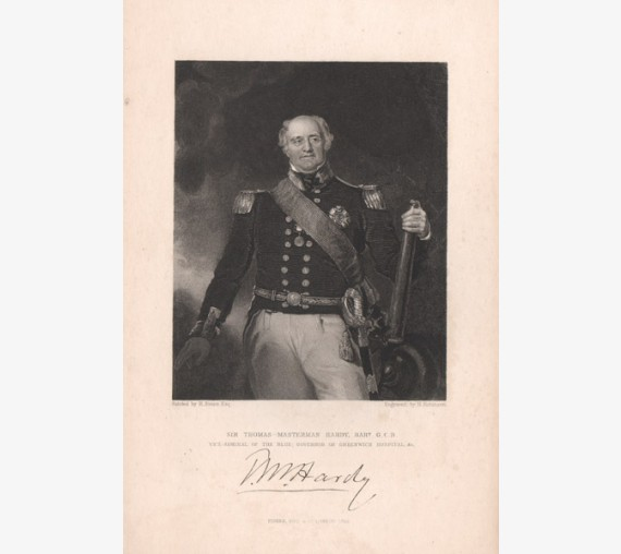 Thomas Masterman Hardy portrait engraving naval