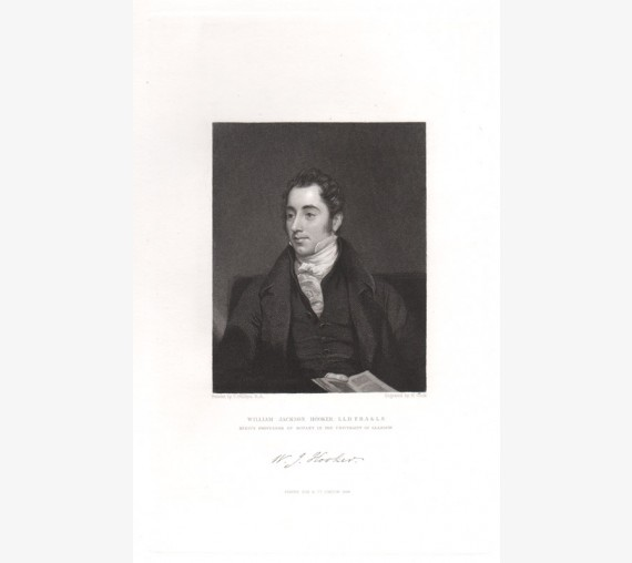 William Jackson Hooker engraving Thomas Phillips 1834