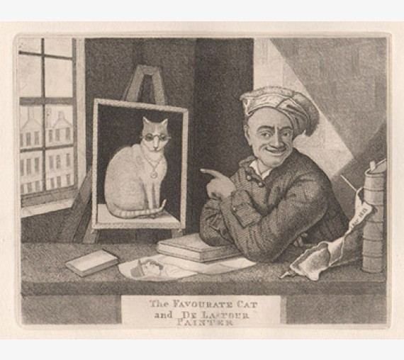 Favourite Cat De La Tour Painter portrait Kay etching
