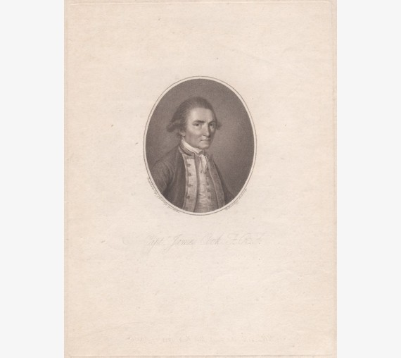 Captain James Cook Stipple engraving Bartolozzi John Webber 1784
