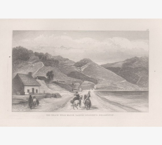 Major Bakers residence Wellington New Zealand engraving