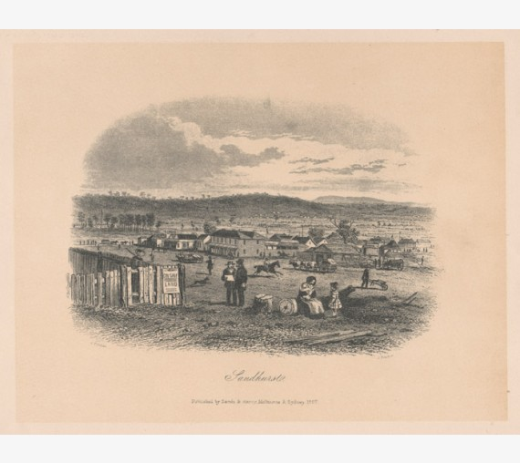 Sandhurst lithograph Tingle ST Gill Bendigo