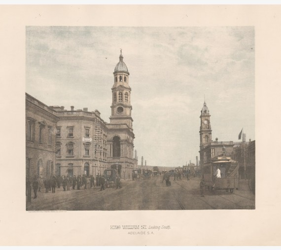King William St Adelaide Photolithograph Phillip Stephan
