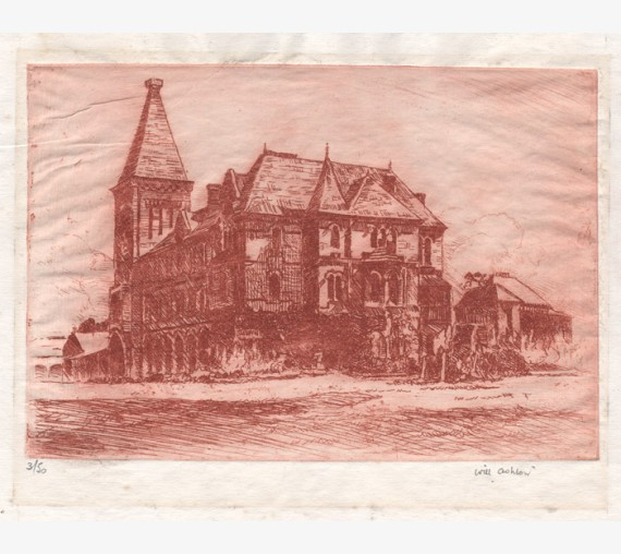 Newington College Stanmore etching Will Ashton