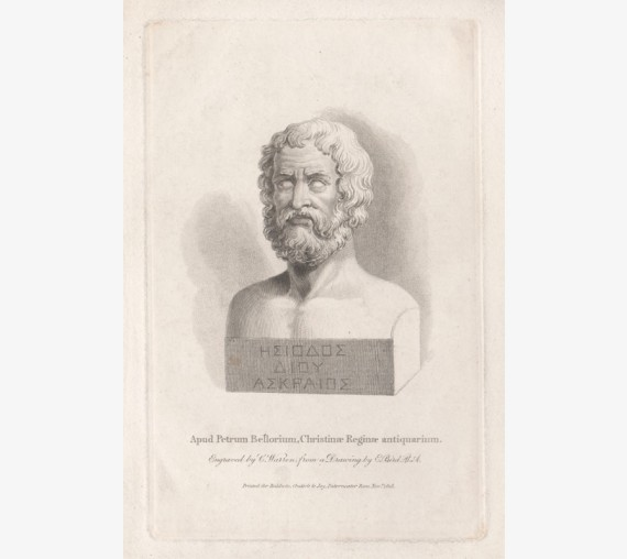 hesiod engraving portrait ancient greece