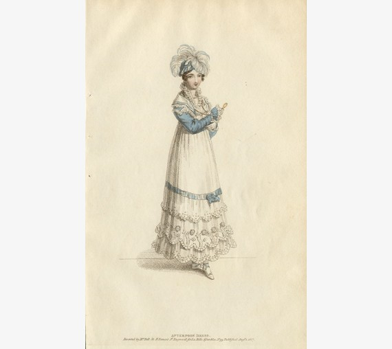 afternoon dress la belle assemblee regency fashion