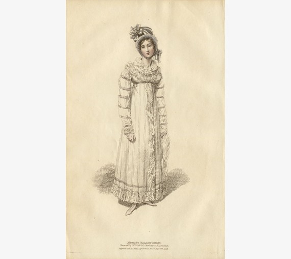 walking dress la belle assemblee regency fashion