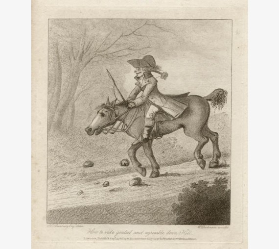 Henry Bunbury caricature gambado horse riding