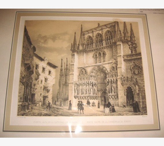 Cathedral Burgos Villaamil Spain lithograph