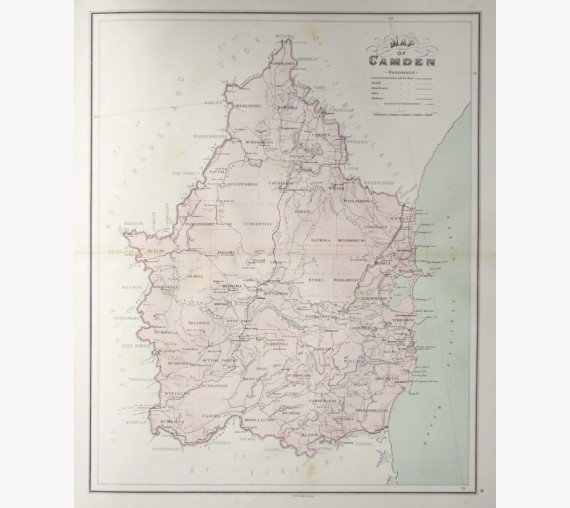 nsw county map camden new south wales
