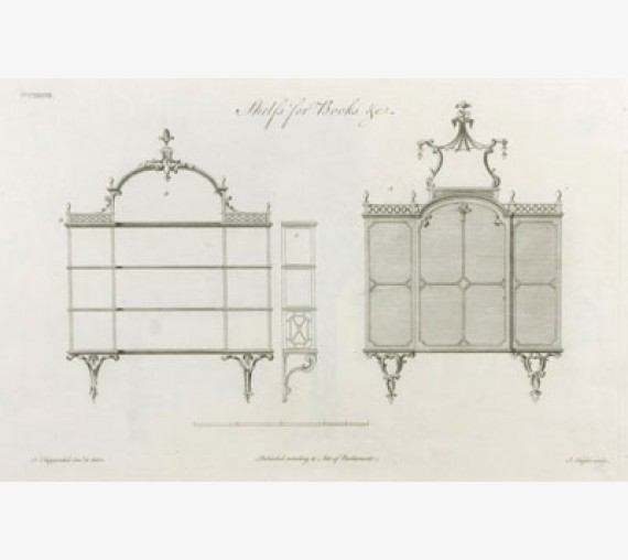 Thomas Chippendale furniture design antique engraving print director