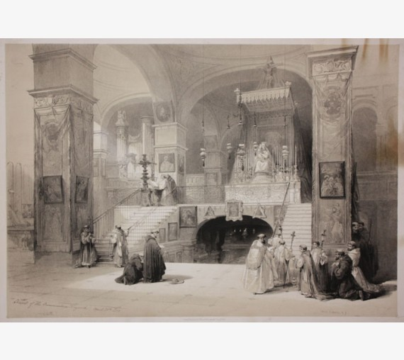 David Roberts lithograph Holy Land Church Annunciation Nazareth