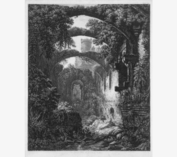 Conway Castle Wales George Cuitt etching