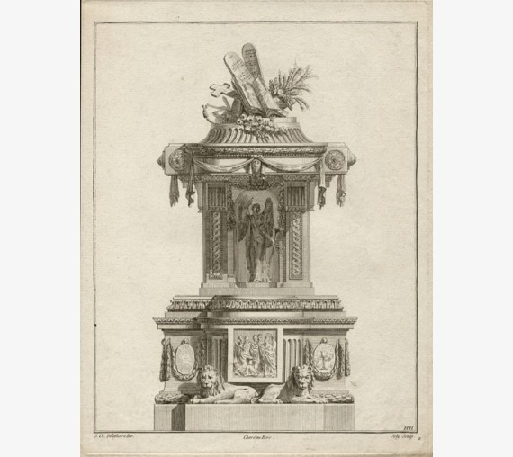 Delafosse pulpit French design antique engraving print