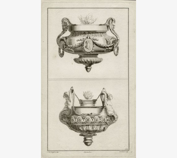 Delafosse Braziers French design antique engraving print