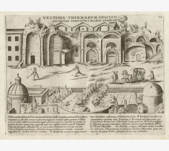 Baths of Diocletian Engraving Jacobo Lauro Rome