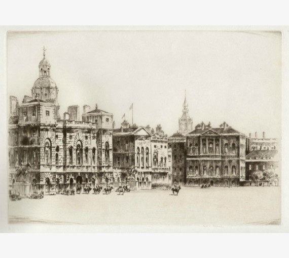 Horseguards London etching Frederick Farrell