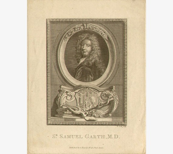 Samuel Garth portrait engraving doctor physician poet