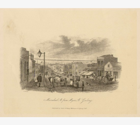 Moorabool St Myers St Geelong Lithograph Tingle ST Gill