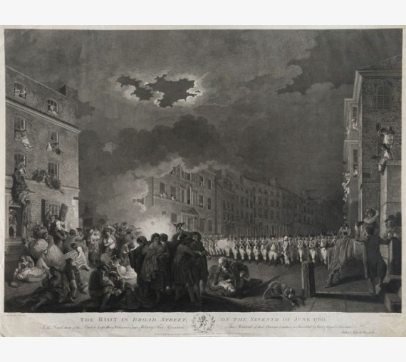 Riot Broad Street June 1780 Heath engraving