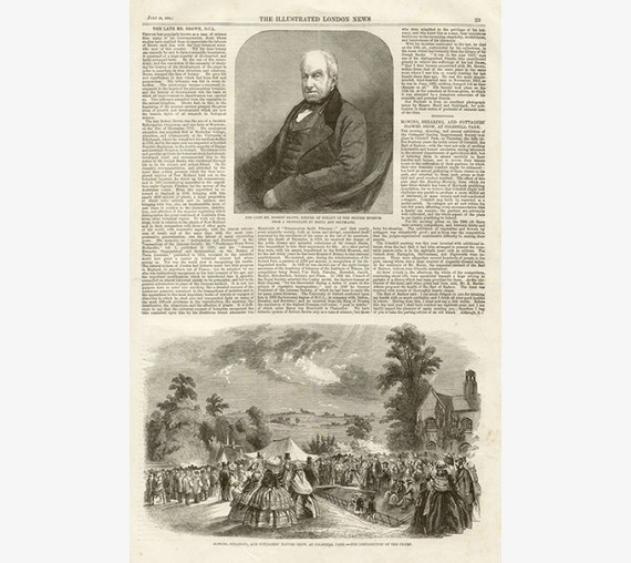 robert brown portrait engraving botanist antique print
