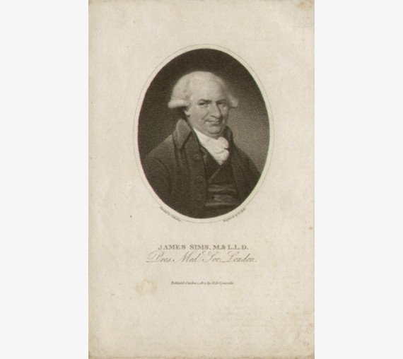 James Sims portrait engraving vaccination Thomas Lawrence