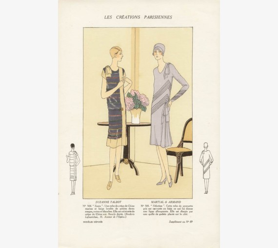 les creations parisiennes pochoir art deco 1920s fashion design