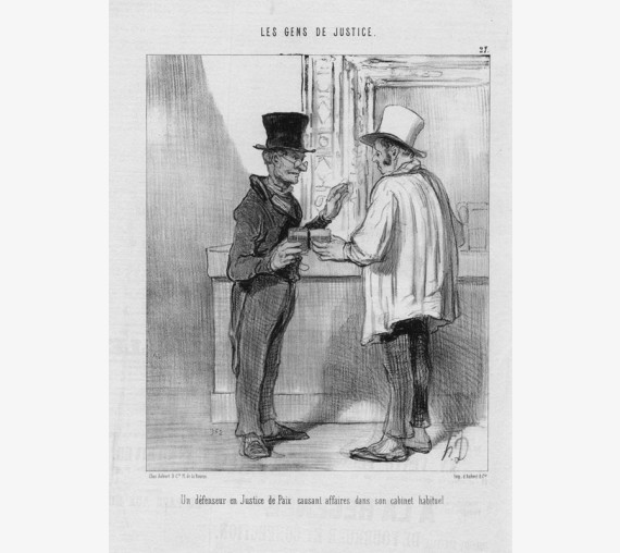 daumier gens justice lithograph charivari lawyer judge
