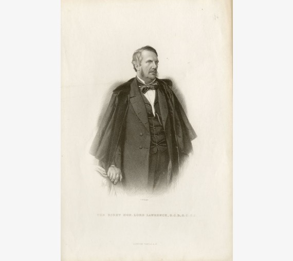 Lord John Lawrence portrait engraving Viceroy India