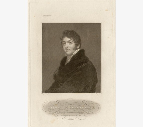 Lord Melbourne engraving portrait Thomas Lawrence