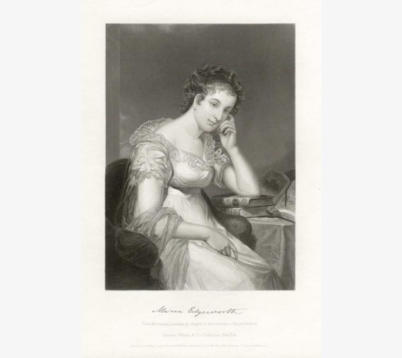 Maria Edgeworth portrait engraving print writer