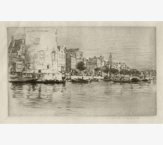 Amsterdam Mortimer Menpes etching