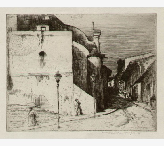 Mexico Mortimer Menpes etching