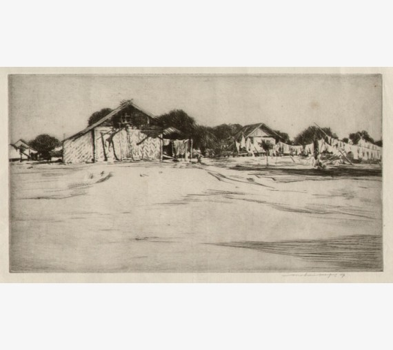 Mandalay Mortimer Menpes etching