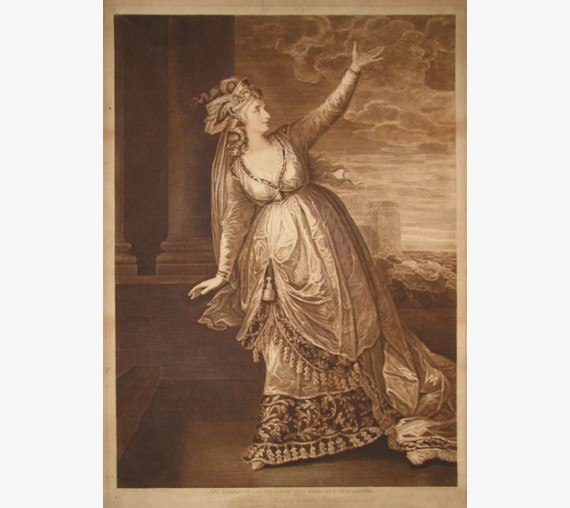 Mrs Siddons Tragedy Grecian Daughter portrait engraving