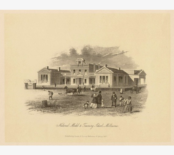 National Model Training School Melbourne Lithograph Tingle ST Gill