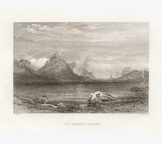 Old Whaling Station engraving John Skinner Prout