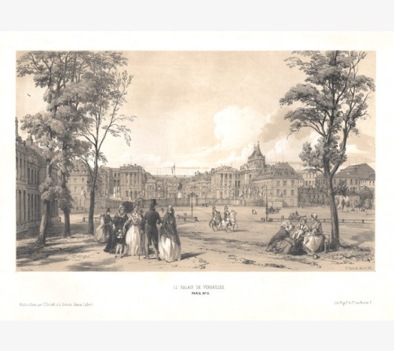 Versailles Paris William Parrott lithograph