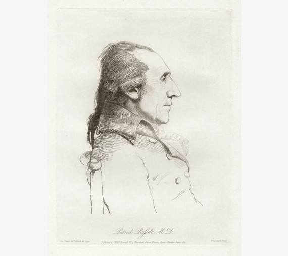 Patrick Russell medical portrait engraving Dance Daniell
