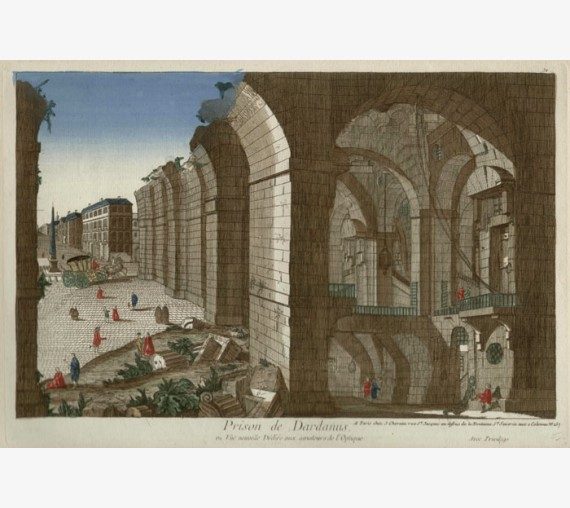 Prison de Dardanus antique engraving Italy