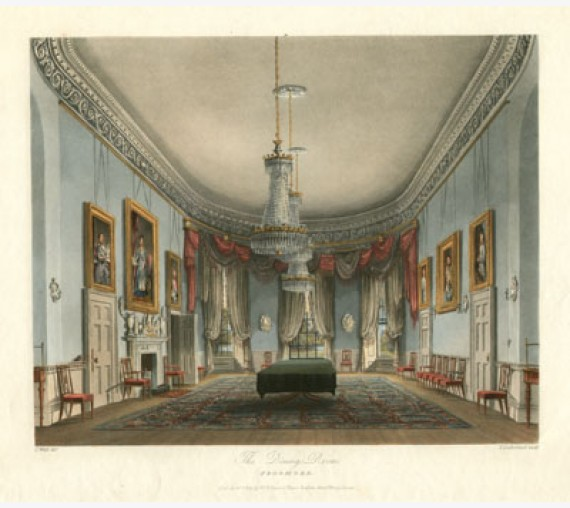aquatint royal residences pyne dining Room Frogmore