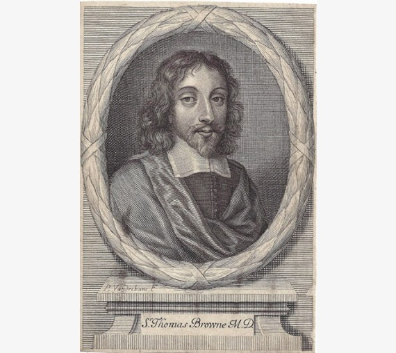 Thomas Browne portrait engraving doctor physician Norwich