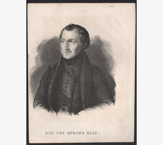 Thomas Spring Rice portrait engraving Whig politician